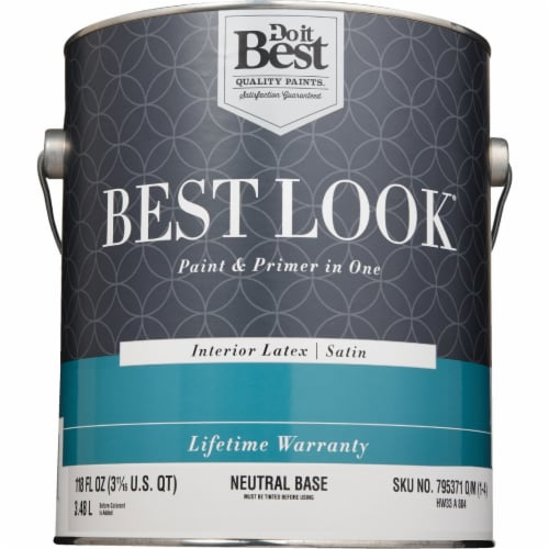 Do it Best Int Sat Neutral Bs Paint HW33A0804-16 Perspective: back