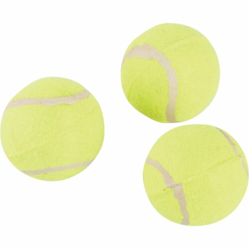 Smart Savers 6 Cm. Dia. Tennis Ball Dog Toy (3-Pack) 800937 Pack of 12 Perspective: back