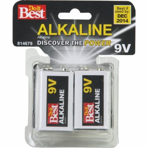 Do it Best 9V Alkaline Battery (4-Pack) DIBA1604-4 Perspective: back
