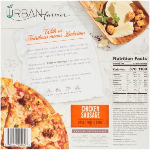URBAN farmer Sweet Potato Crust Chicken Sausage Frozen Pizza Perspective: back