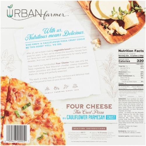 URBAN farmer Cauliflower Parmesan Crust Four Cheese Frozen Pizza Perspective: back