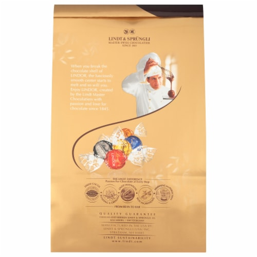 Lindt Lindor Assorted Chocolate Truffles Perspective: back