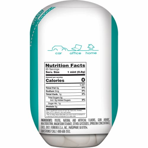 Tic Tac X-Freeze Wintergreen Flavored Mints Perspective: back