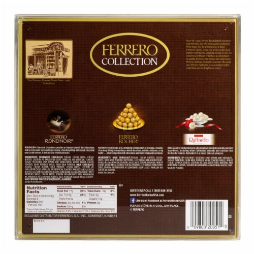 Ferrero Collection Fine Assorted Chocolate Confections Diamond Gift Box Perspective: back