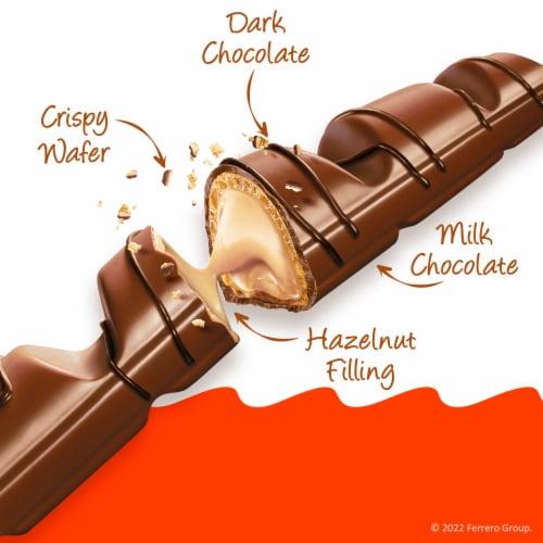 Kinder Bueno Crispy Creamy Chocolate Bars Perspective: back