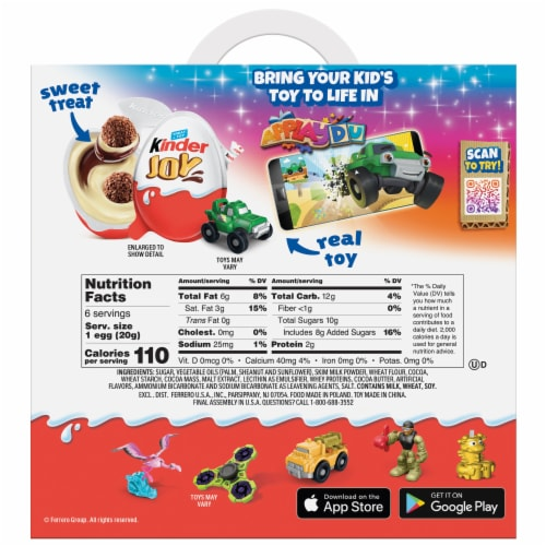 Kinder Joy Treat + Toy Candy Multipack Perspective: back
