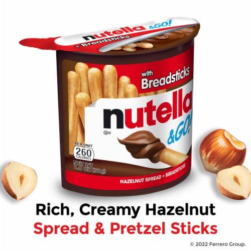 Nutella & Go! Hazelnut Spread + Breadsticks Perspective: back