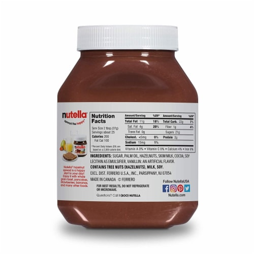 Nutella Hazelnut Spread with Cocoa Perspective: back