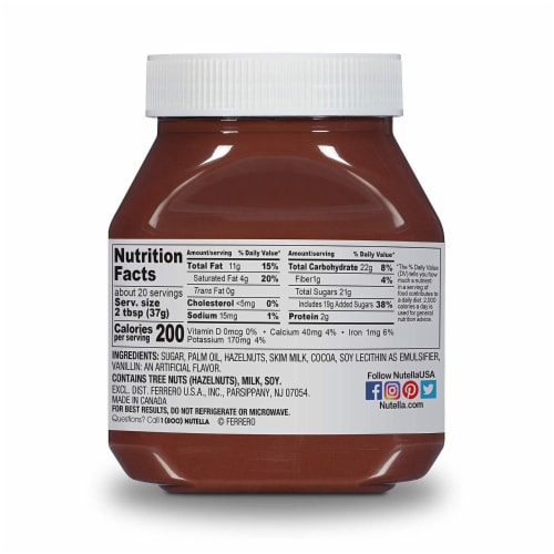 Nutella Hazelnut with Cocoa Spread Perspective: back