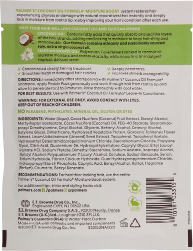Palmer's Coconut Oil Formula Deep Conditioning Protein Pack Perspective: back