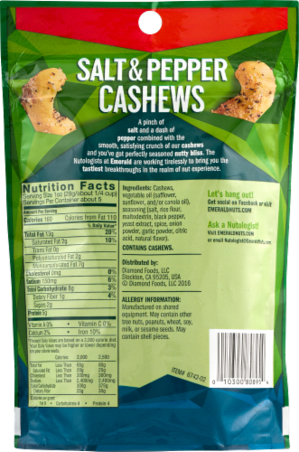 Emerald Salt & Pepper Cashews Perspective: back