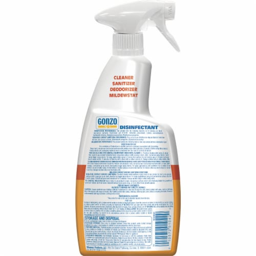 Gonzo® Citrus Disinfectant Spray Perspective: back