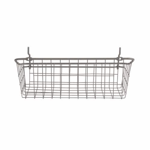 Spectrum Pegboard Basket and Hook Station - Industrial Gray Perspective: back