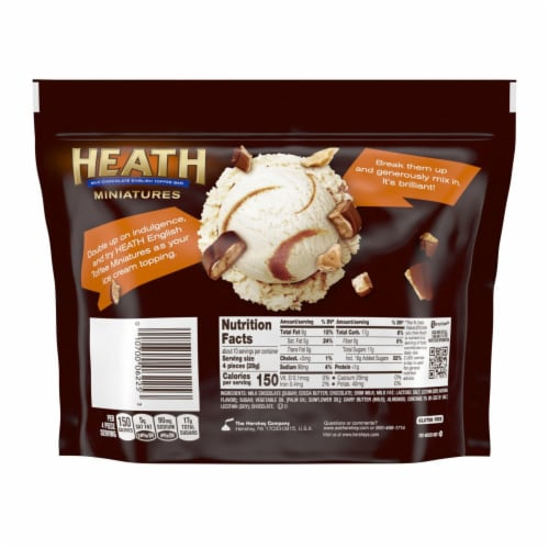 Heath Milk Chocolate English Toffee Bar Miniatures Share Pack Perspective: back