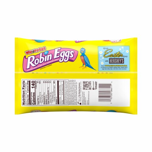 WHOPPERS Easter Robin Eggs Malted Milk Chocolate Candy Perspective: back