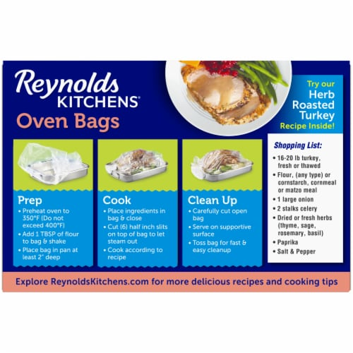 Reynolds Kitchens Turkey Size Oven Bags Perspective: back