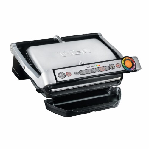 T-fal OptiGrill Plus Stainless Steel Indoor Electric Grill Perspective: back