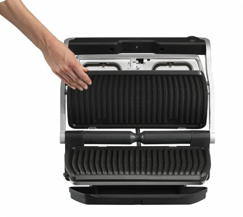T-fal Stainless Steel OptiGrill + XL Indoor Grill Perspective: back