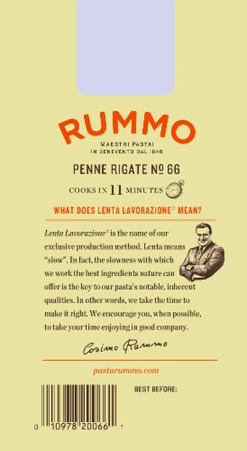 Rummo Penne Rigate No. 66 Pasta Perspective: back