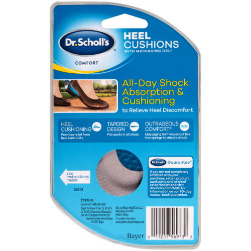Dr. Scholl's Women's Comfort Heel Cushions with Massaging Gel Size 6-10 Perspective: back