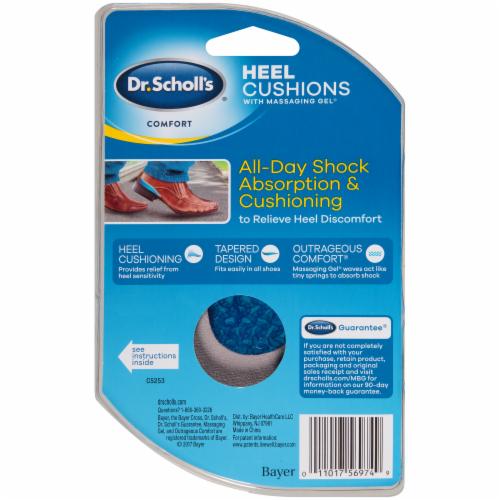 Dr. Scholl's Men's Comfort Heel Cushions with Massaging Gel Size 8-13 Perspective: back