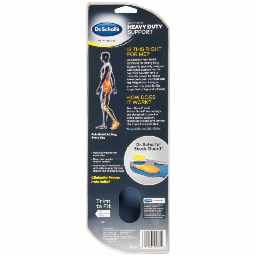 Dr. Scholl's Pain Relief Men's Orthotics for Heavy Duty Support Men's M Perspective: back