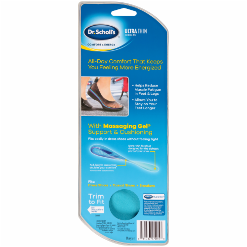 Dr. Scholl's Women's Ultra Thin Insoles Size 6-10 Perspective: back