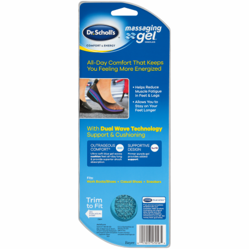Dr. Scholl's Women's Massaging Gel Insoles Perspective: back