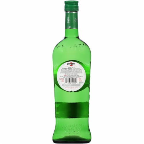 Martini & Rossi White Extra Dry Vermouth Perspective: back