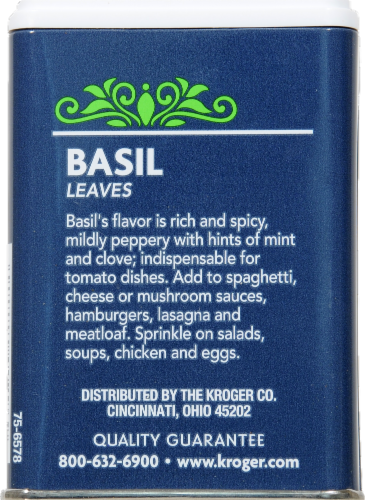 Kroger® Basil Leaves Perspective: back