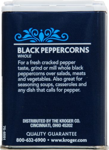 Kroger® Whole Black Peppercorns Perspective: back