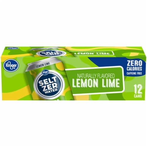 Kroger® Lemon Lime Seltzer Water Perspective: back