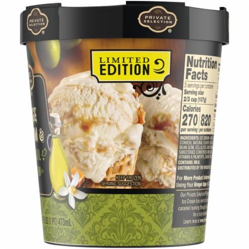 Private Selection Orange Blosson Olive Oil Ice Cream Perspective: back