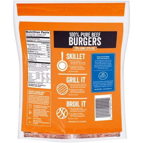 Kroger® 100% Pure Beef Quarter Pound Burgers 8 Count Perspective: back