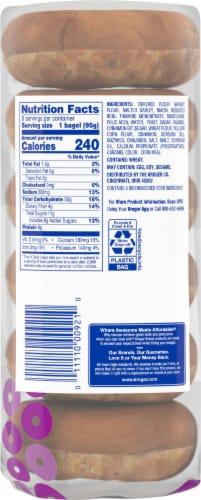 Kroger® Cinnamon Raisin Pre-Sliced Bagels Perspective: back