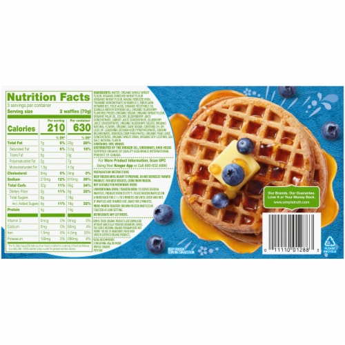 Simple Truth Organic™ Blueberry Waffles Perspective: back