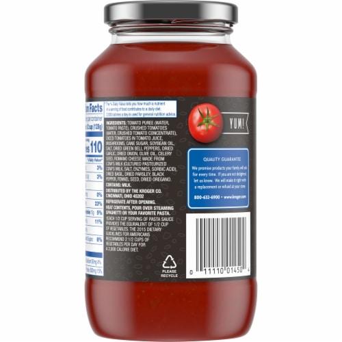 Kroger® Chunky Green Pepper & Mushroom Pasta Sauce Perspective: back