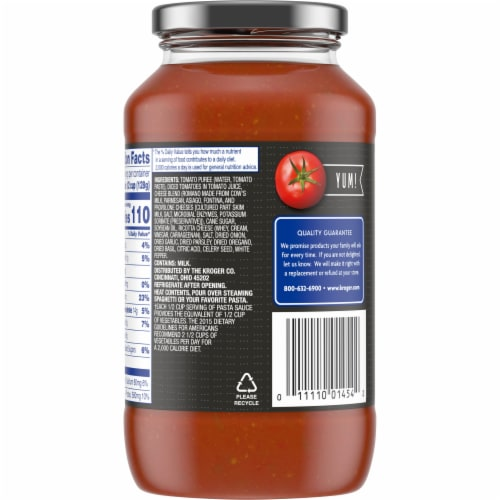 Kroger® 6-Cheese Pasta Sauce Perspective: back
