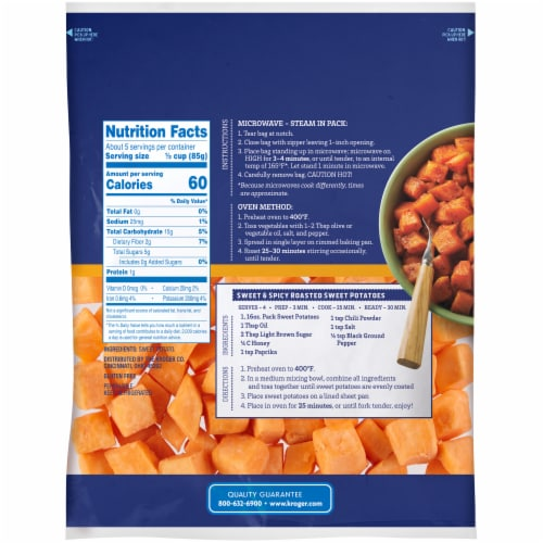 Kroger® Prepped Sweet Potato Cubes Perspective: back