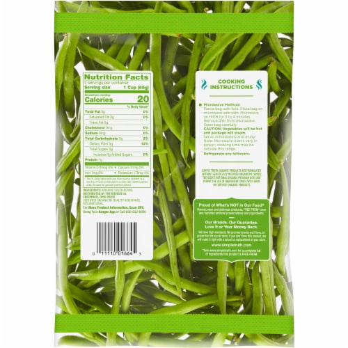 Simple Truth Organic® Green Beans Perspective: back