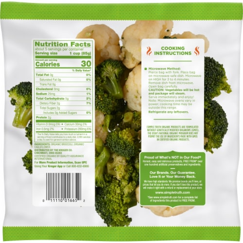 Simple Truth Organic® Broccoli & Cauliflower Perspective: back