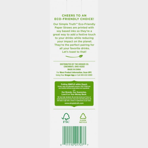 Simple Truth™ Eco Friendly Paper Straws Perspective: back