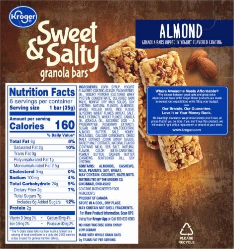 Kroger® Sweet & Salty Almond Granola Bars Perspective: back