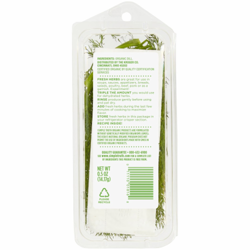 Simple Truth Organic Baby Dill Perspective: back