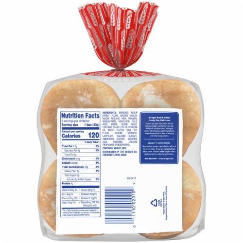 Kroger® White Enriched Hamburger Buns Perspective: back