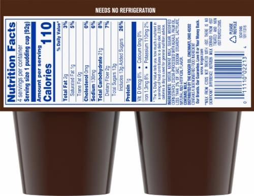 Kroger® Chocolate Fudge Pudding Snacks Perspective: back