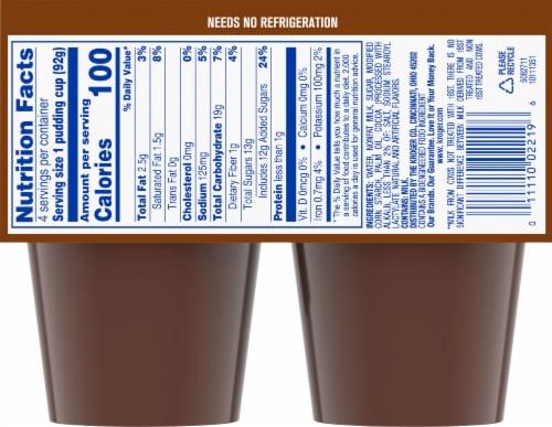 Kroger® Chocolate Pudding Snacks Perspective: back