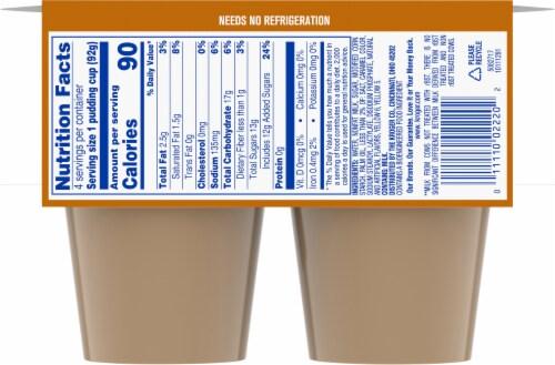Kroger® Butterscotch Pudding Snacks Perspective: back