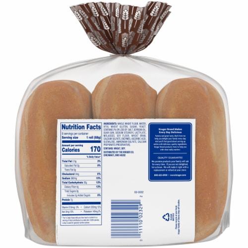 Kroger® 100% Whole Wheat Hoagie Rolls Perspective: back