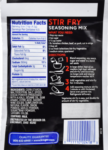 Kroger® Chinese Inspirations Stir Fry Seasoning Mix Perspective: back